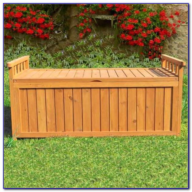 Outdoor Bench Seat Storage Box