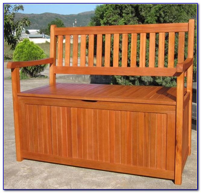 Outdoor Patio Bench With Storage