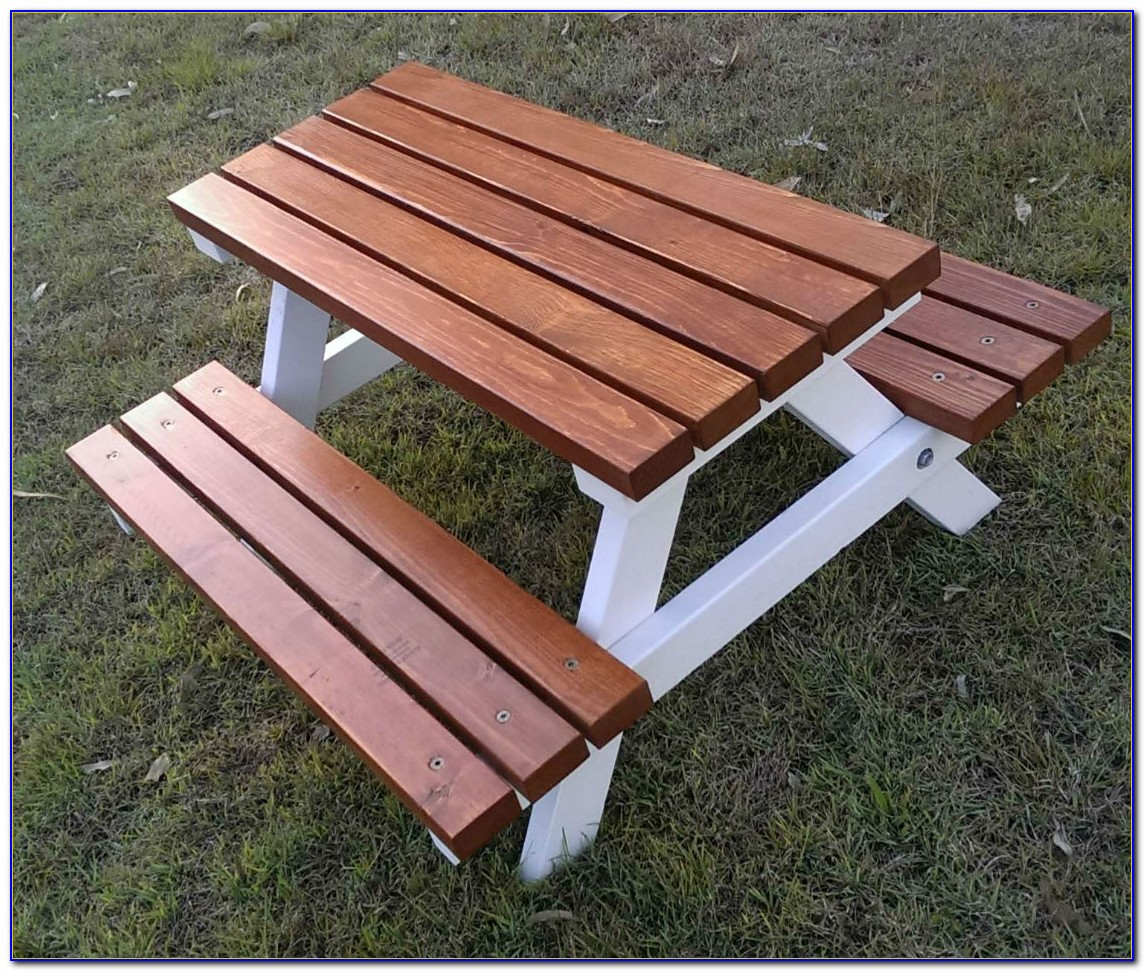 Outdoor Timber Table And Benches
