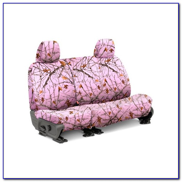 Pink Camouflage Bench Seat Covers