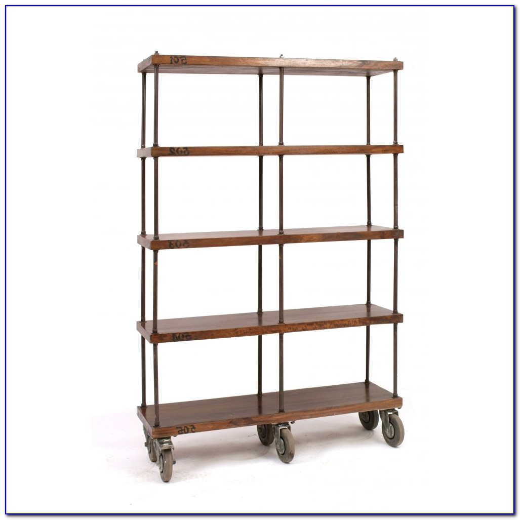 Portable Bookcase On Wheels