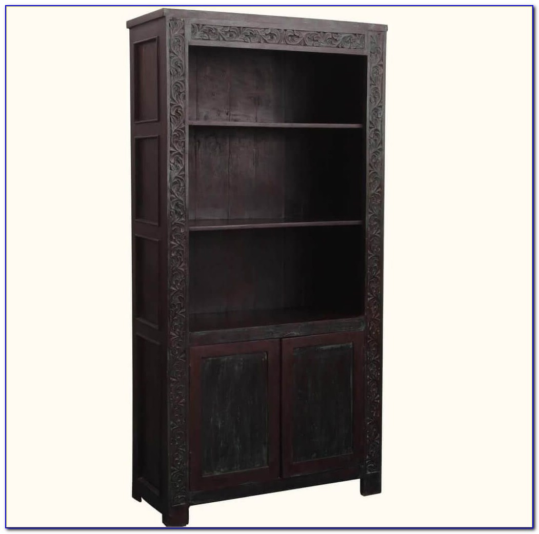 Real Wood Bookcases With Doors