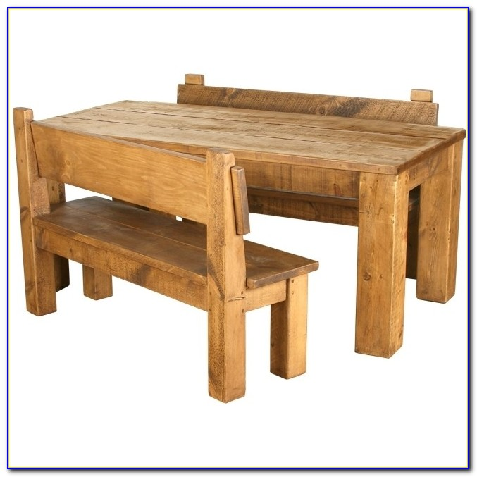 Rustic Bench Dining Table