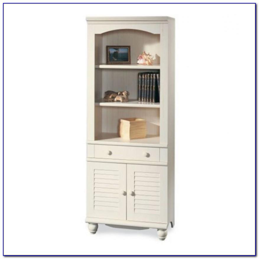 Sauder Antique White Bookcase