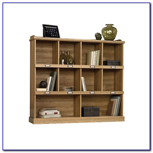 Sauder Barrister Bookcase With Glass Doors