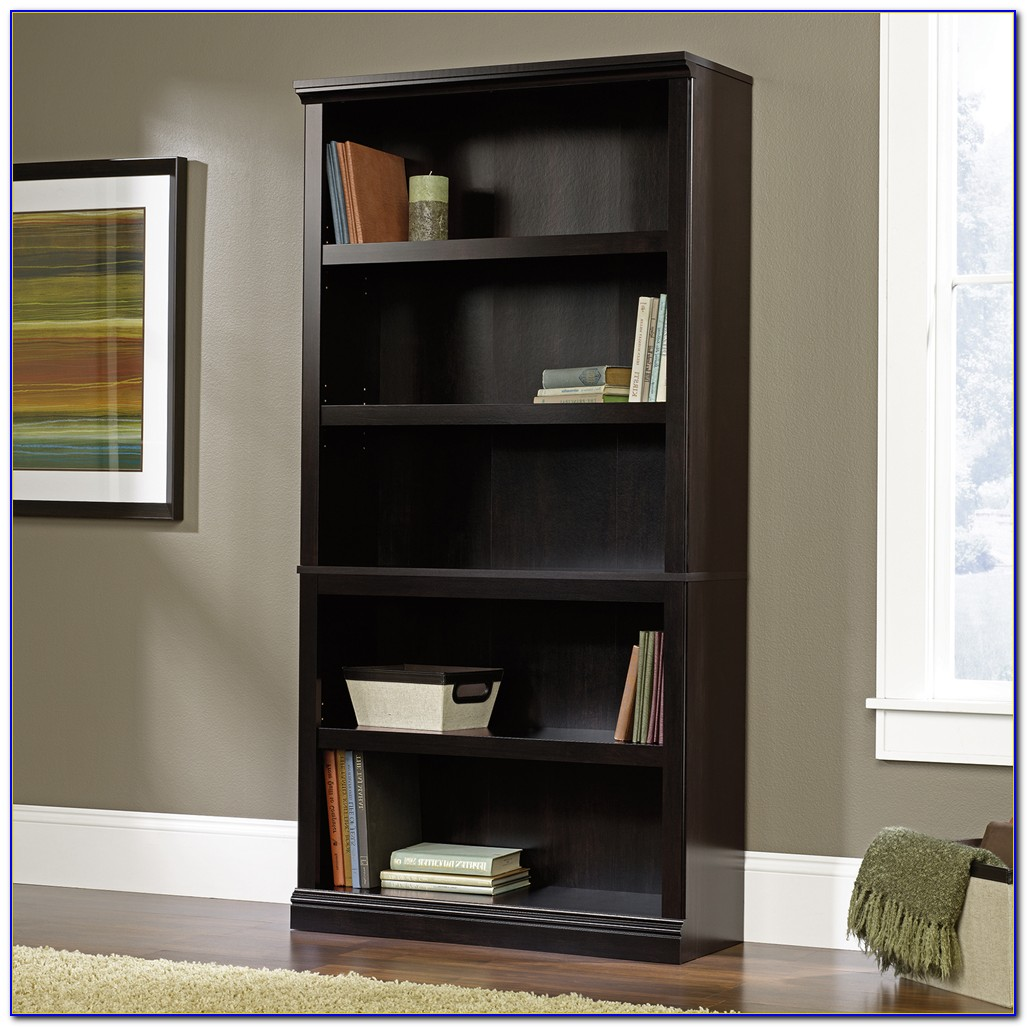 Sauder Black 5 Shelf Bookcase
