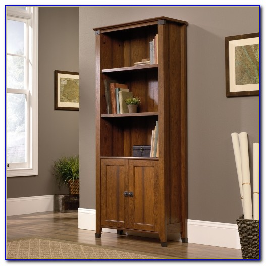 Sauder Cherry Bookcase With Doors
