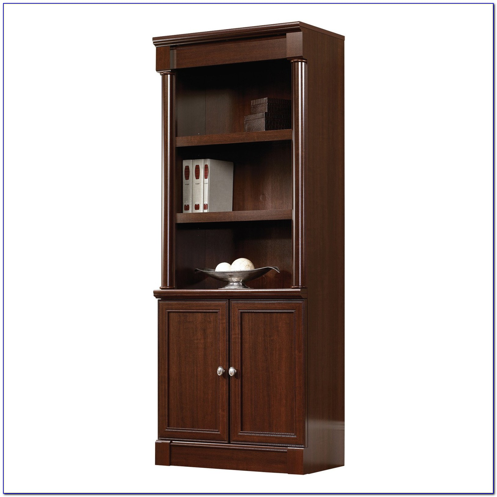 Sauder Edge Water Library Bookcase With Doors