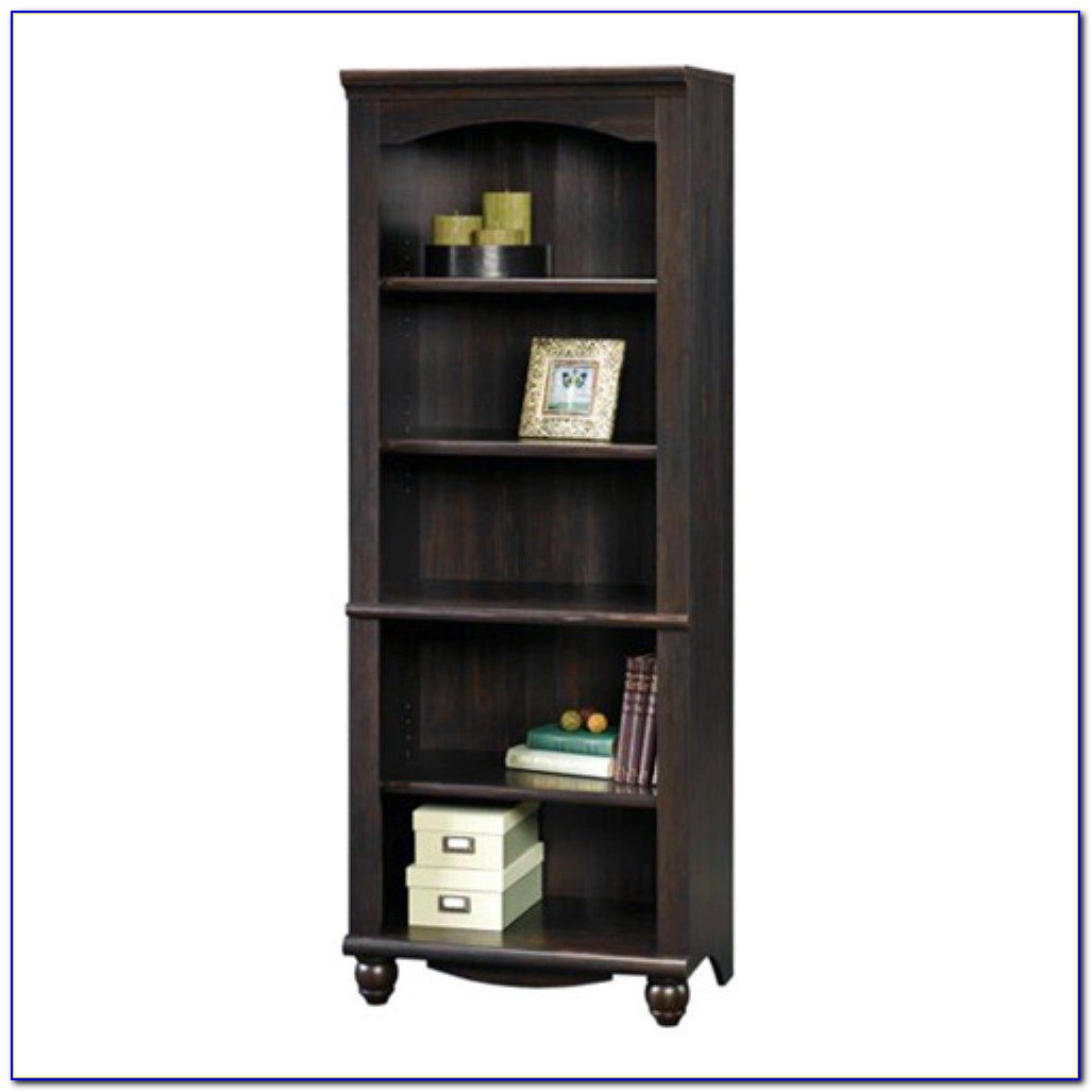 Sauder Harbor View Bookcase Antique Black