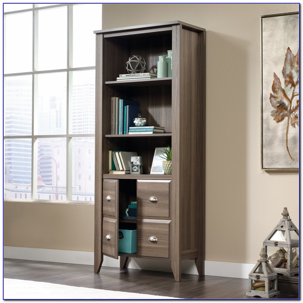 Sauder Library Bookcase With Doors