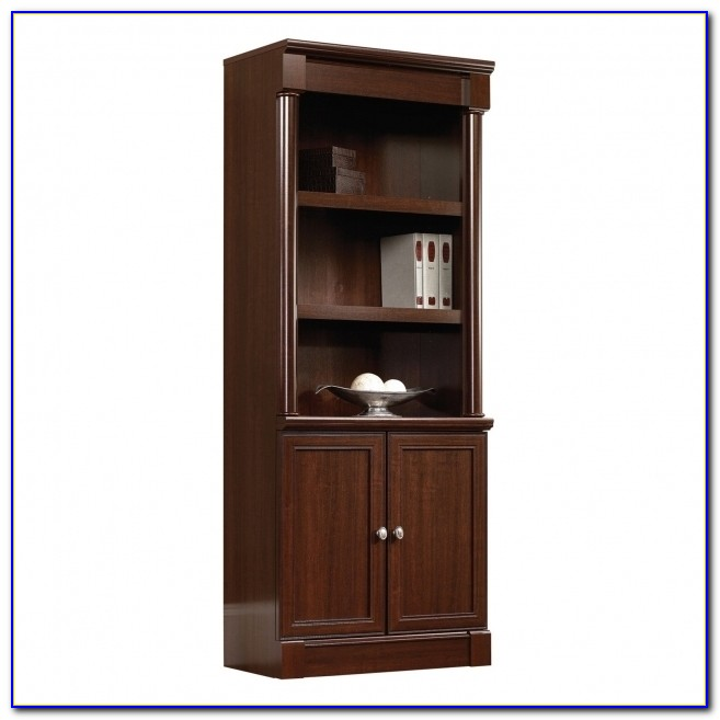 Sauder Palladia Library Bookcase With Doors