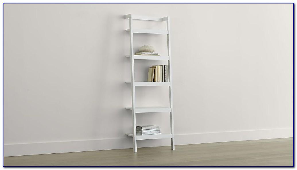 Sawyer White Leaning Bookcase