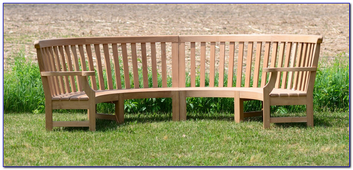 Semi Circular Outdoor Bench