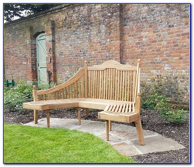 Semi Circular Stone Garden Bench