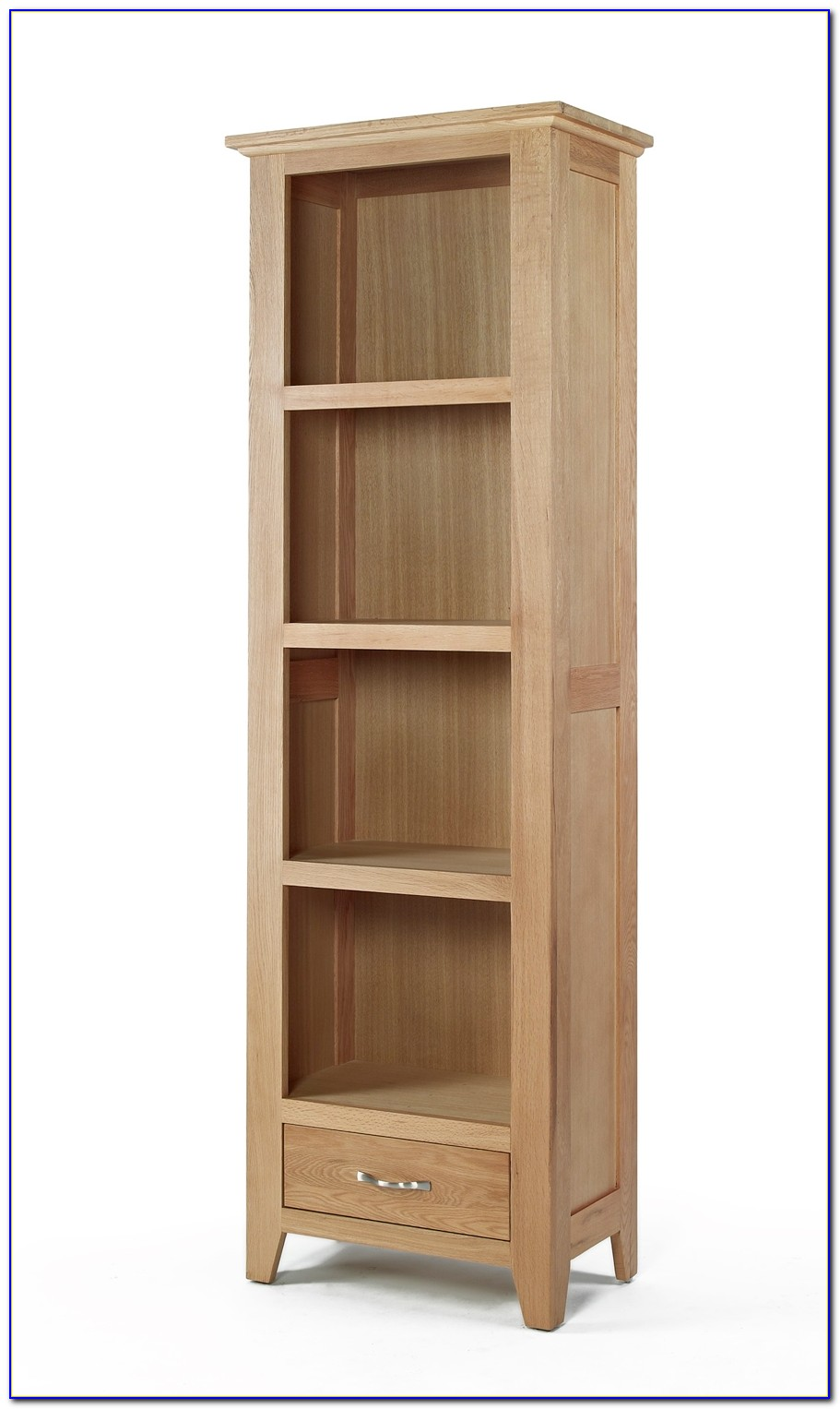 Short Narrow Oak Bookcase