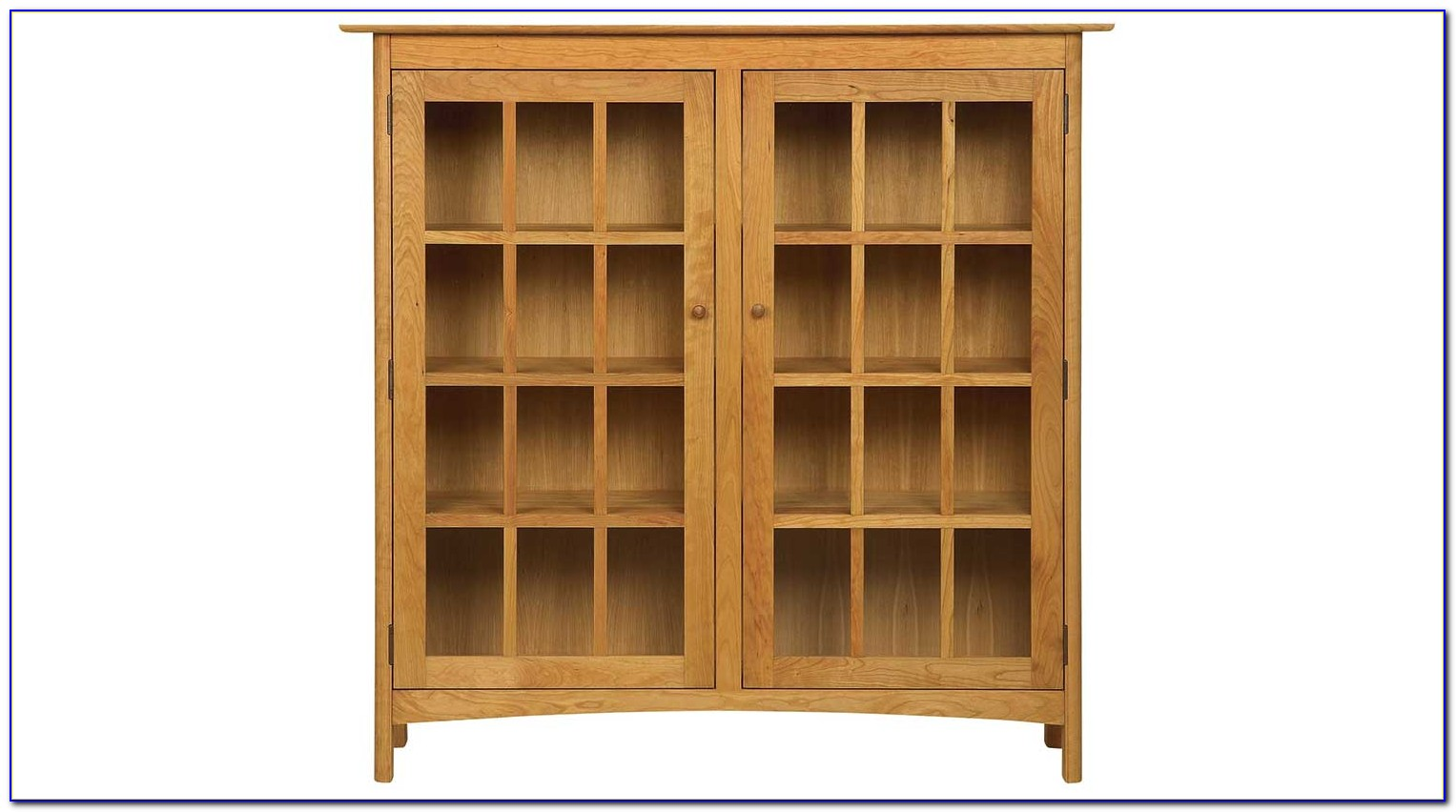 Small Oak Bookcase With Doors
