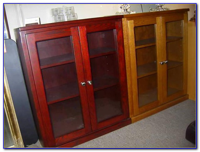 Small White Bookcase With Doors
