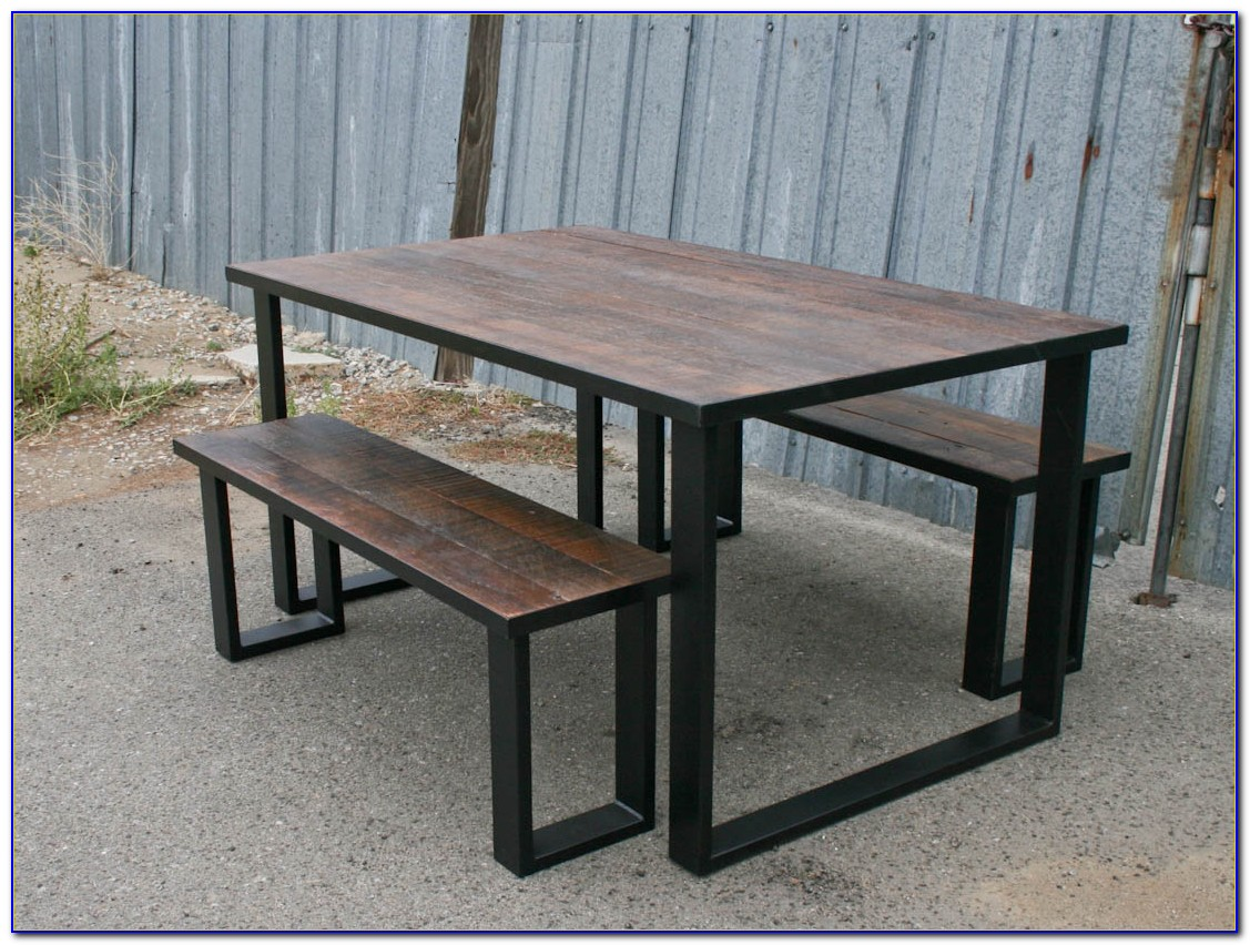 Small Wooden Dining Table And Bench