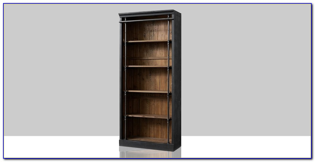 Solid Wood Bookcase With Doors