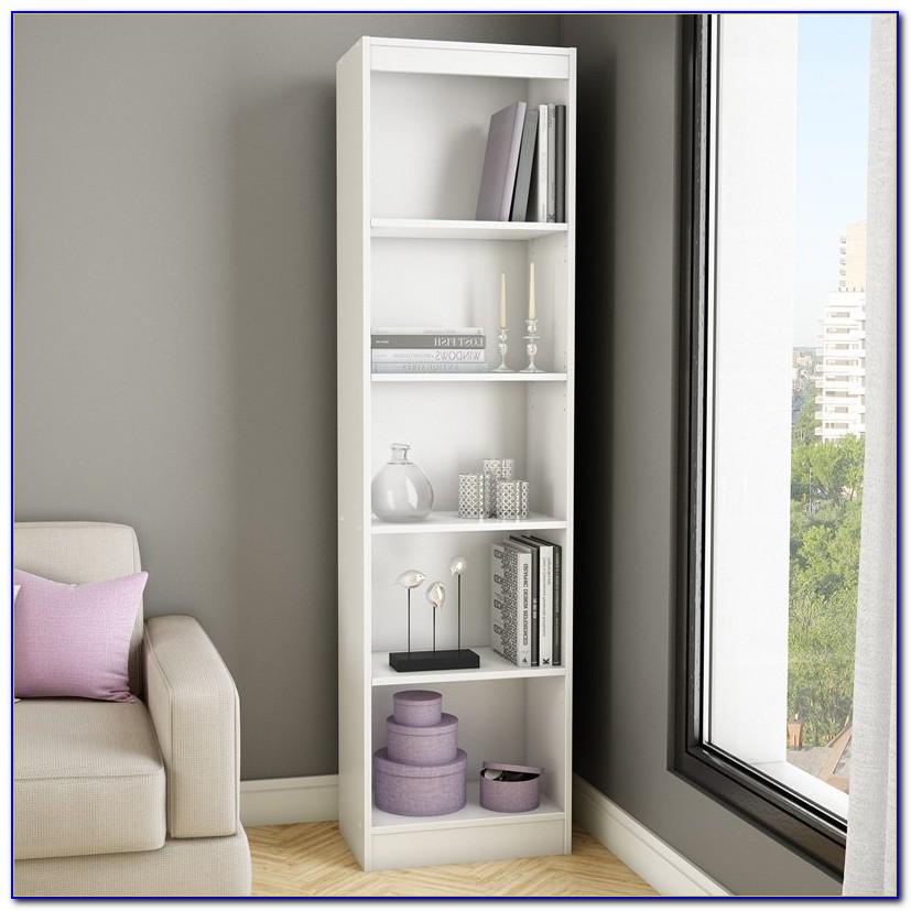 South Shore Axess Collection 5 Shelf Narrow Bookcase Pure White