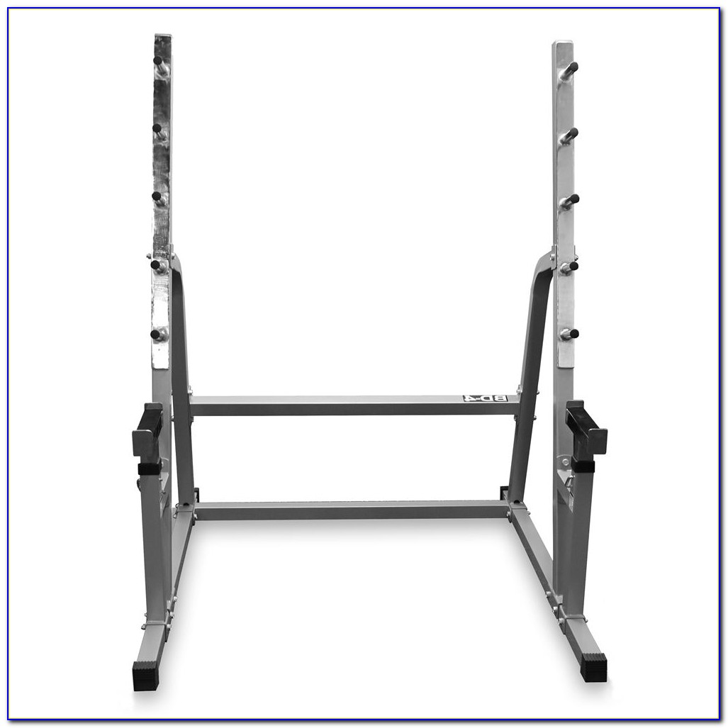 Squat Rack Stand Pair Bench Press Weight Lifting Barbell