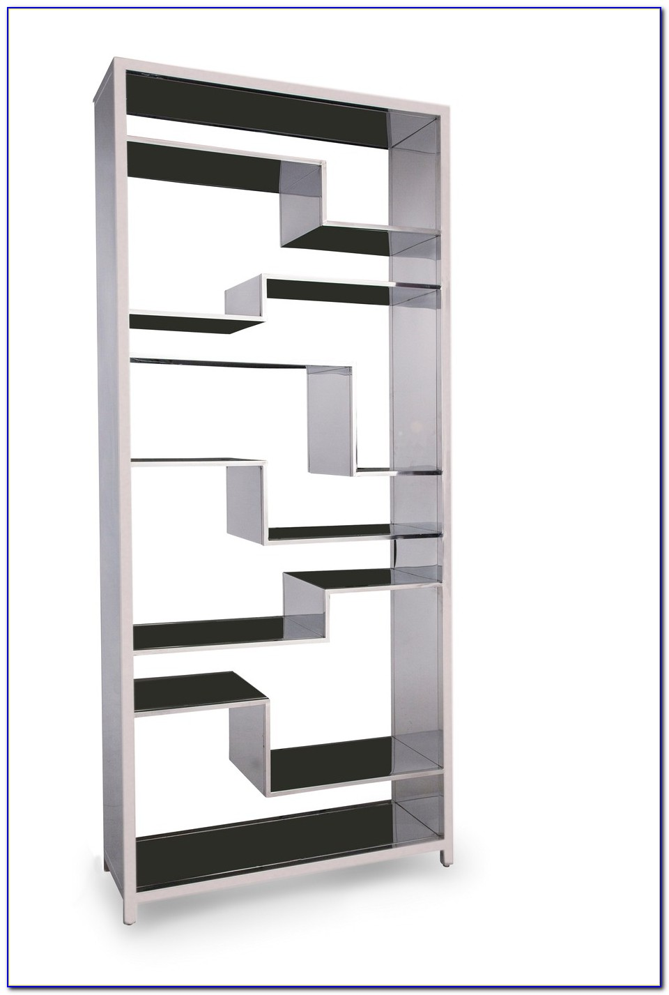 Stainless Steel Glass Bookcase