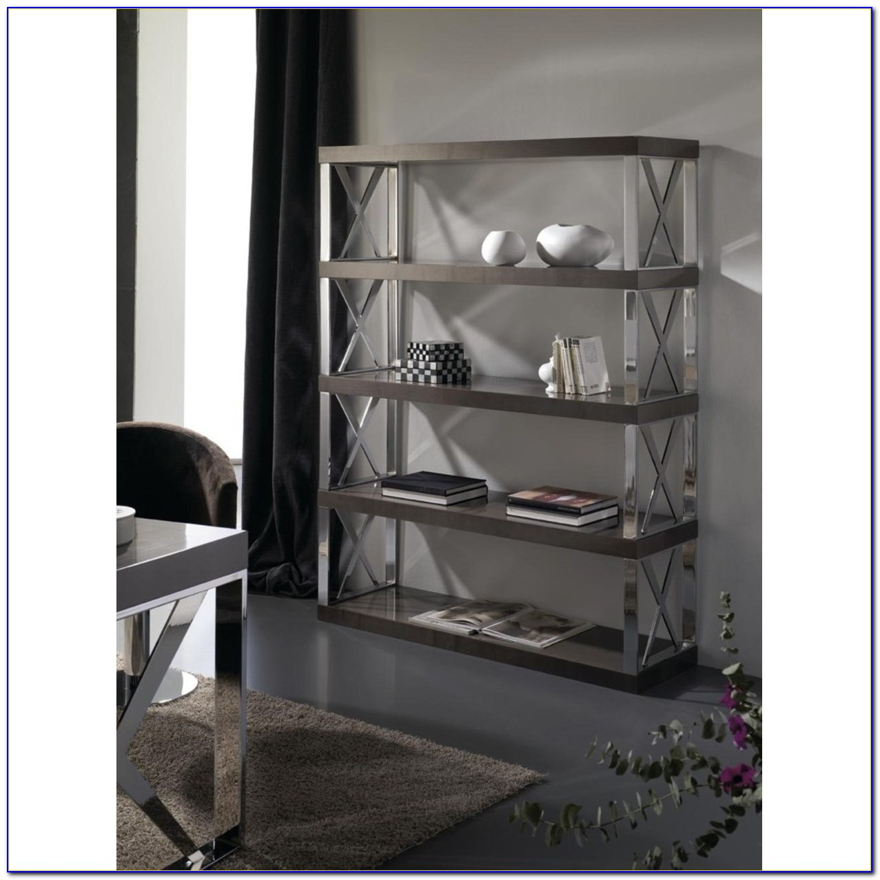 Stainless Steel Ladder Bookcase