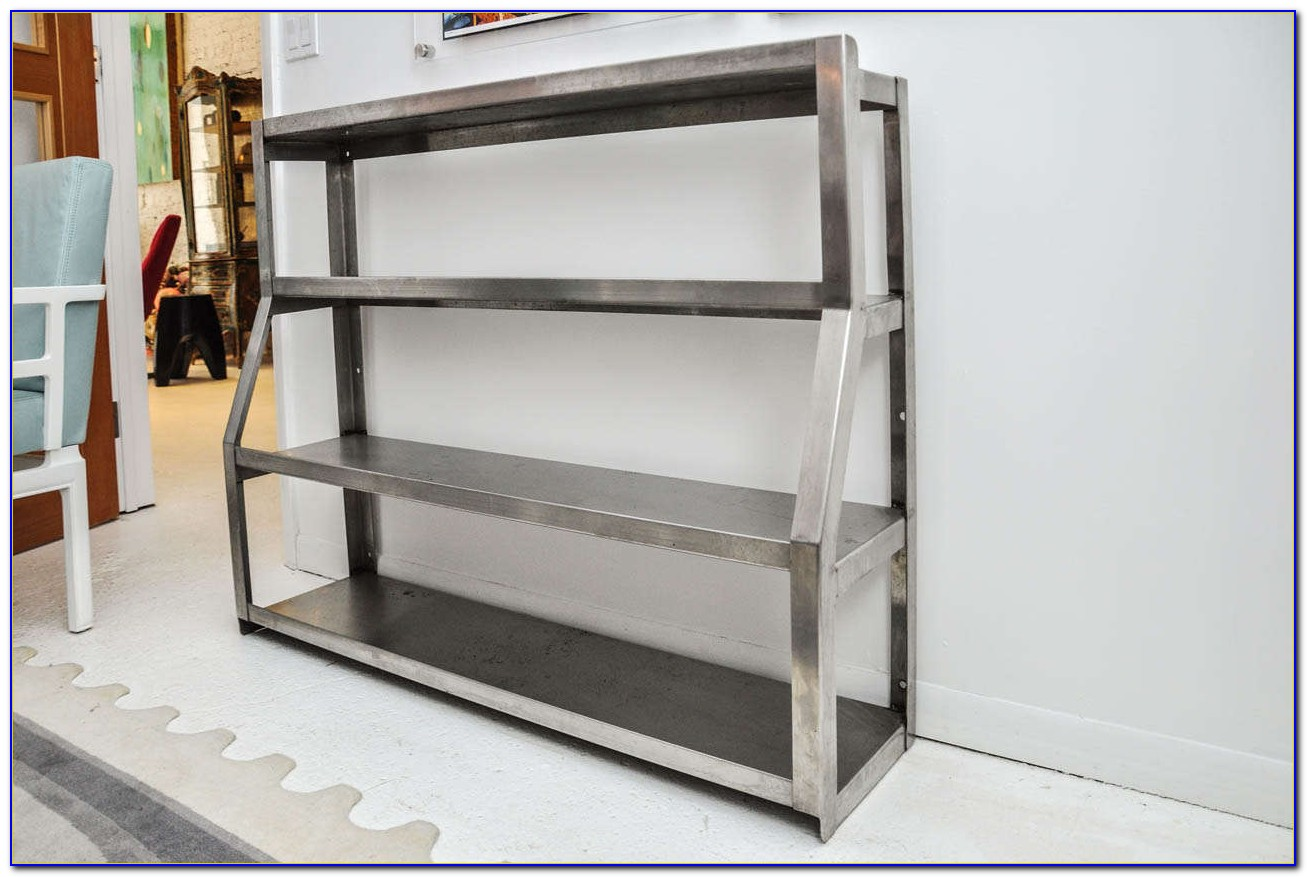 Stainless Steel Leaning Bookcase