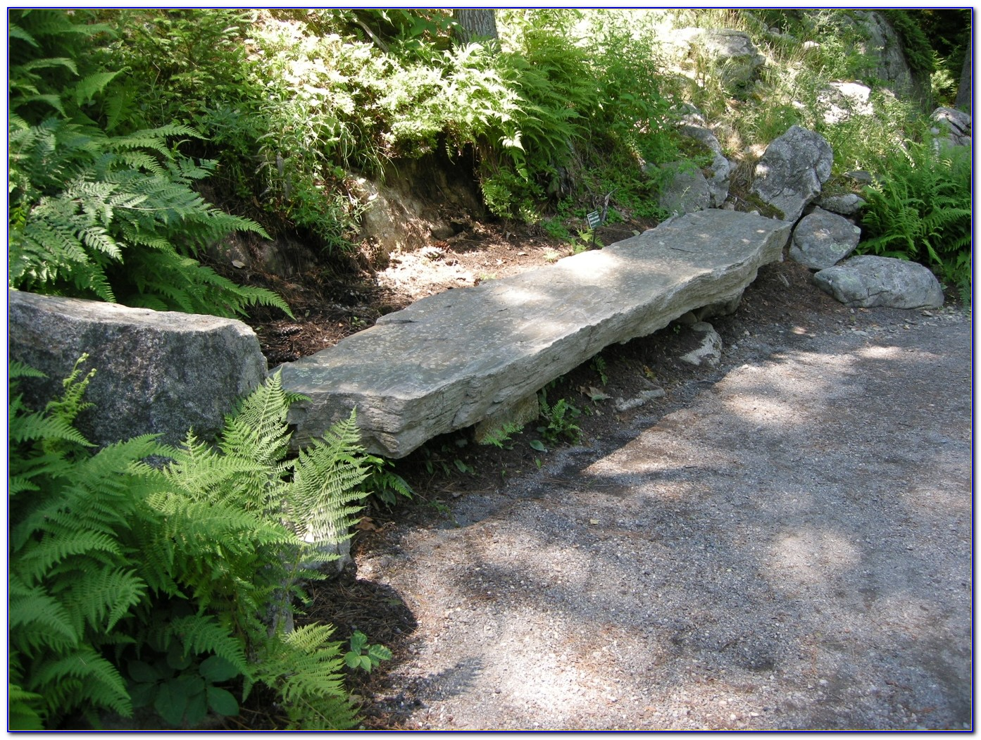 Stone Benches For Garden With Backs