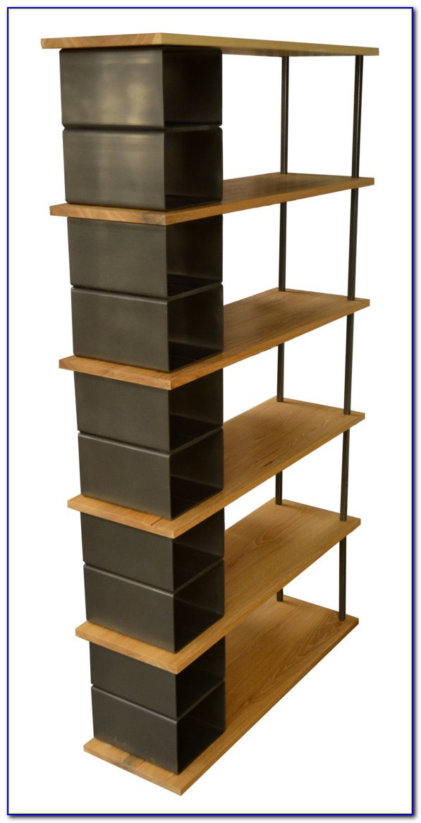 Storage Bookcase With Baskets