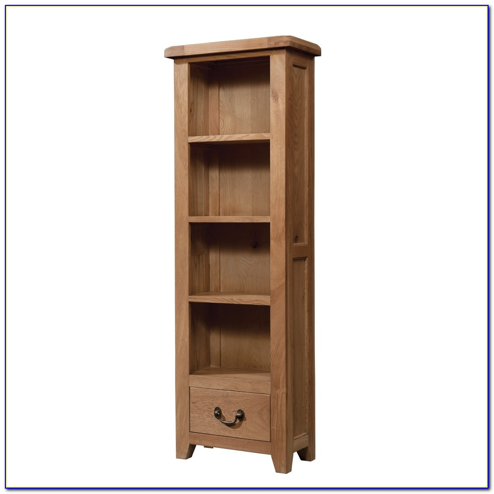 Tall Narrow Bookcase Solid Wood