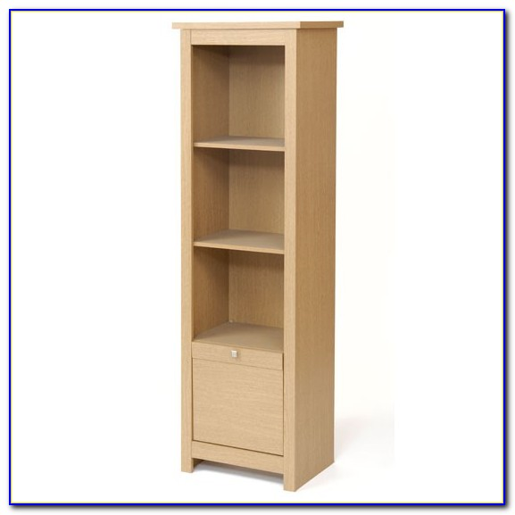 Thin Bookcase With Doors