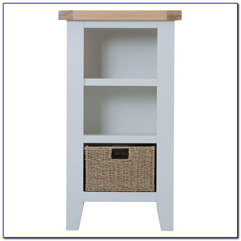 Tvilum Fairfax Short Narrow Bookcase White