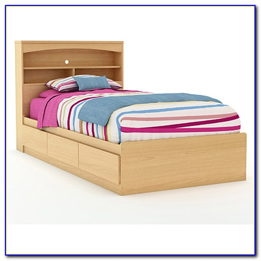 Twin Mates Bed With Bookcase Headboard