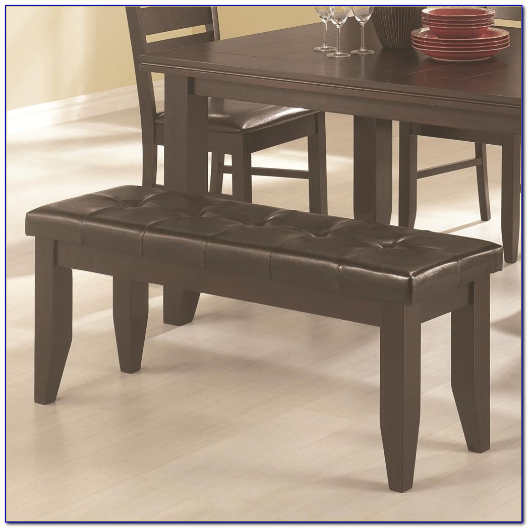 Upholstered Dining Table Bench With Back