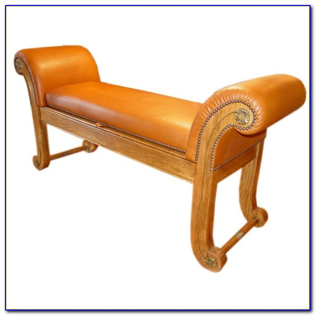 Upholstered Rolled Arm Bench