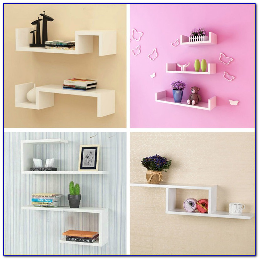 Wall Mounted Bookcase Shelves