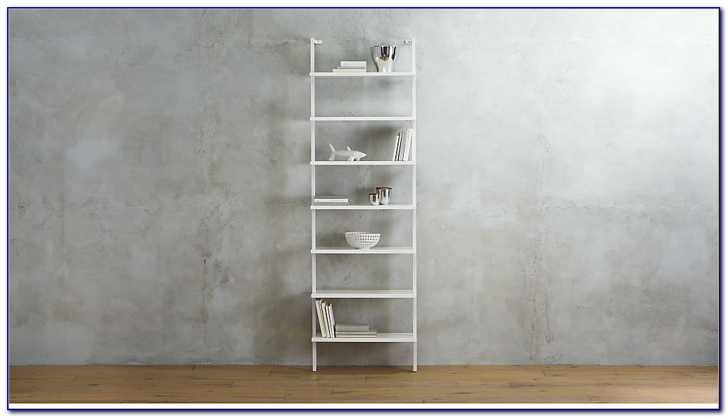 Wall Mounted Bookcase White
