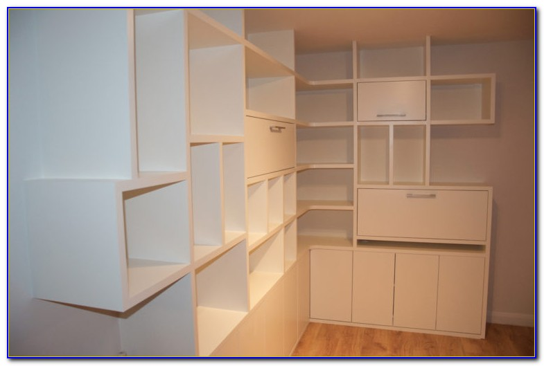 Wall Mounted Bookcase With Glass Doors