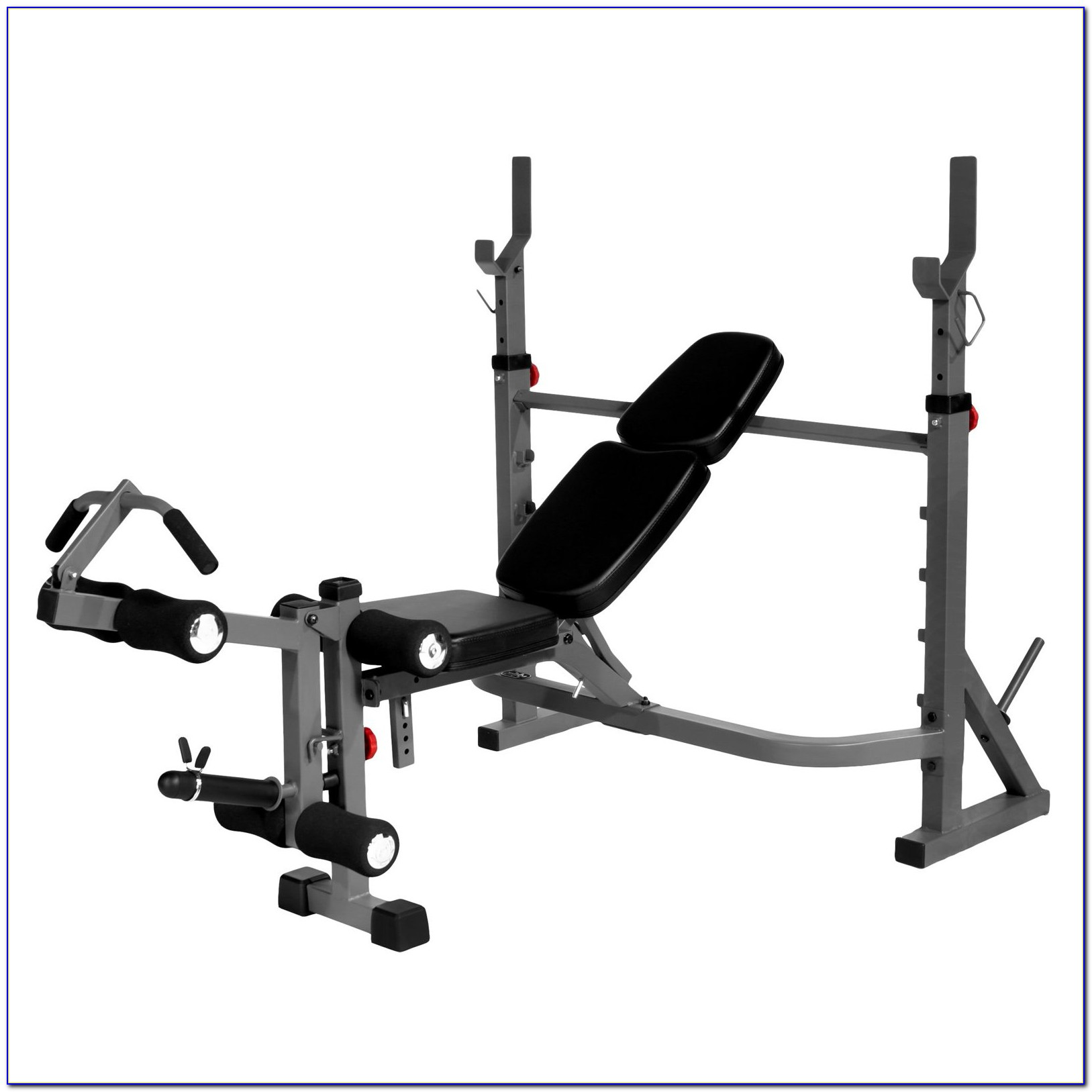 Weight Bench Press With Leg Curl Extensions