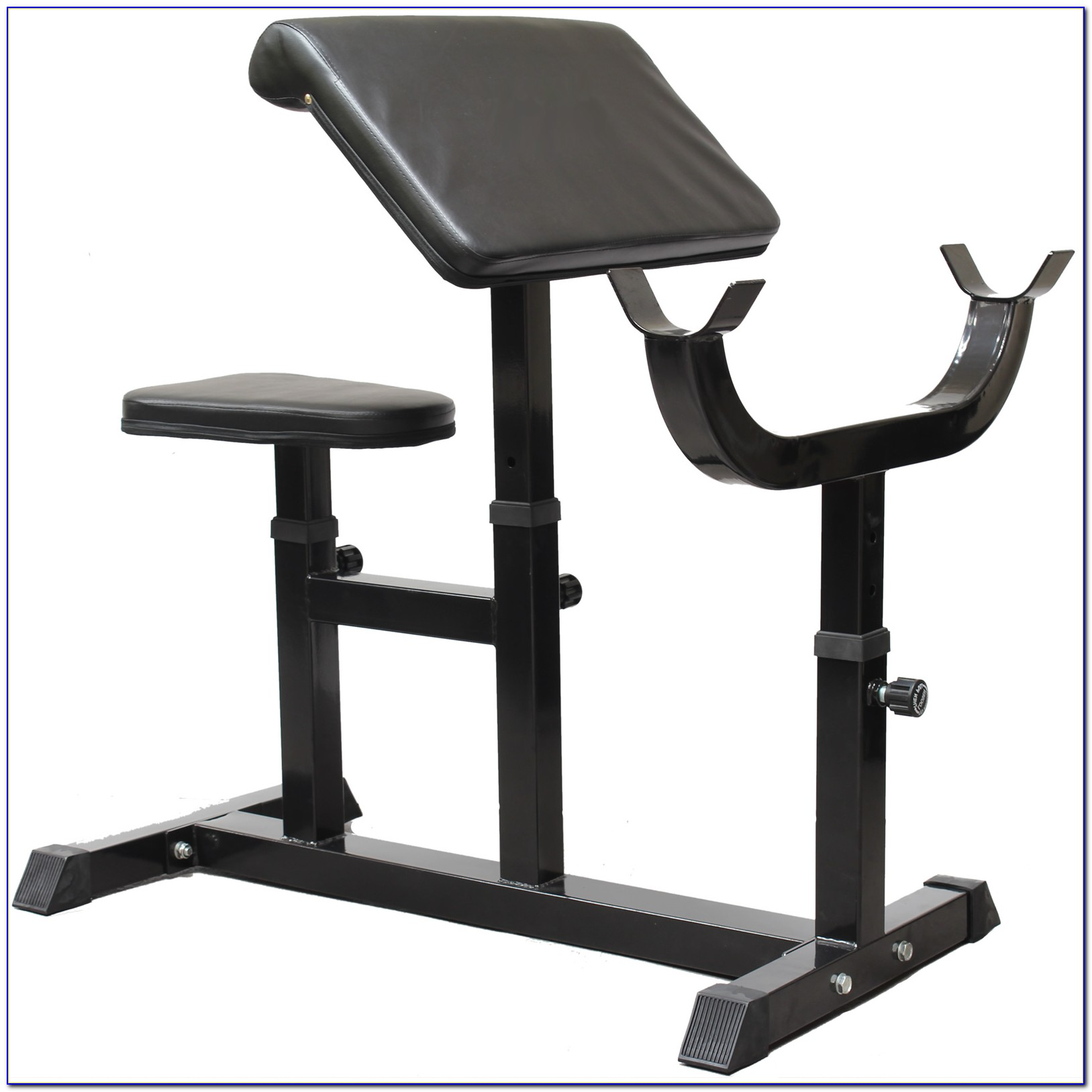 Weight Bench With Preacher Curl
