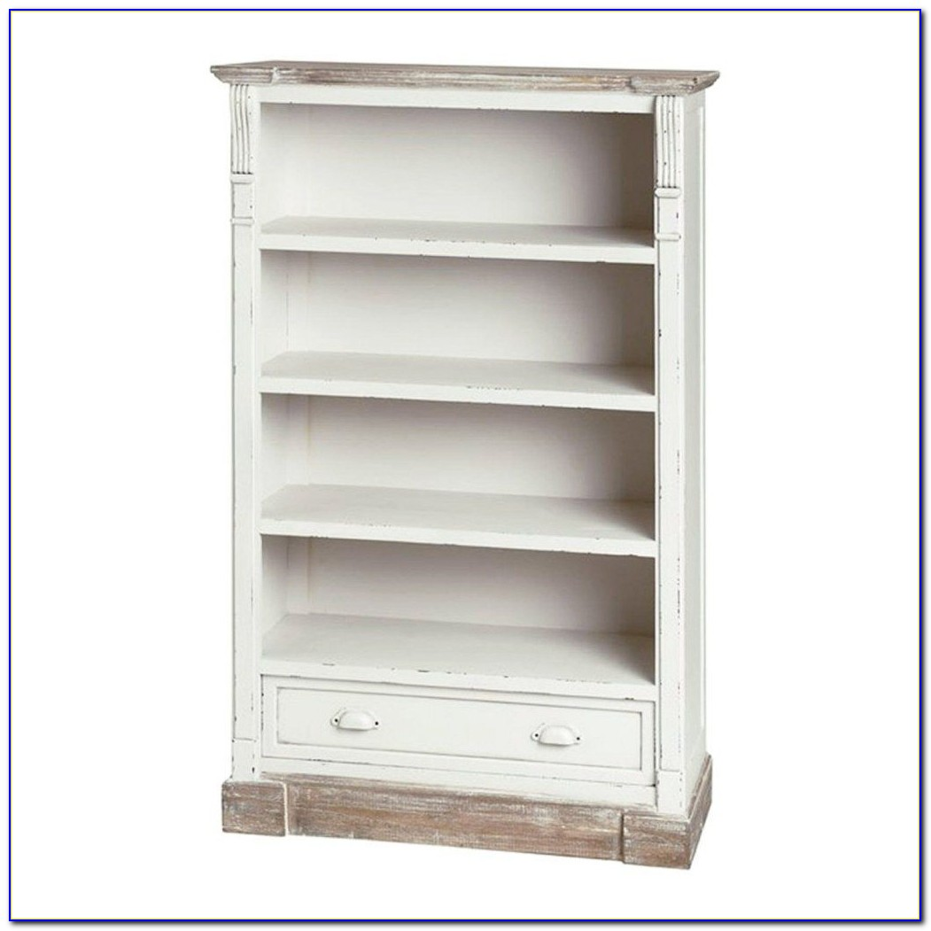 White Bookcases With Drawers