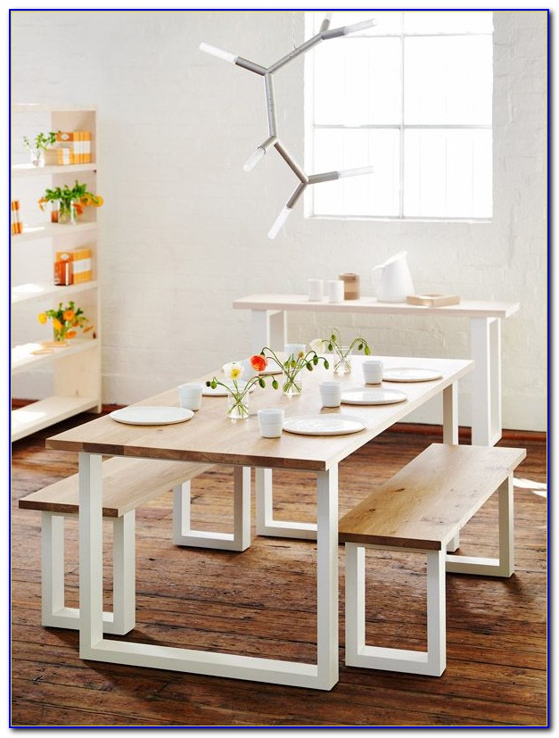 White Dining Chairs And Bench