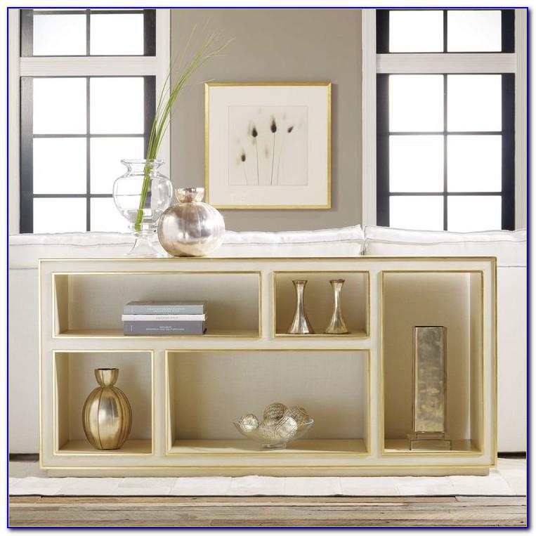 White Horizontal Bookcase With Doors