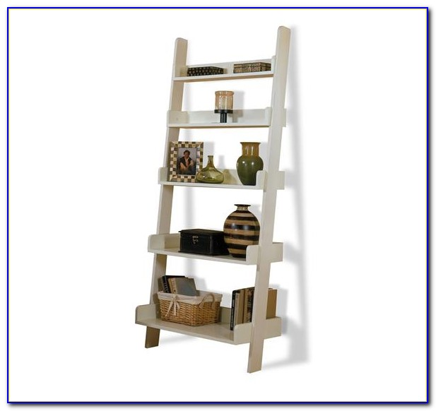 White Leaning Bookcase Canada