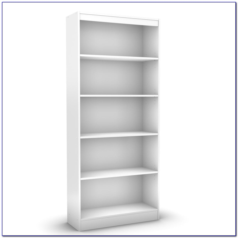 White Wood 2 Shelf Bookcase