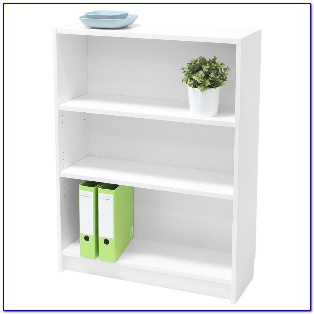 White Wood 3 Shelf Bookcase