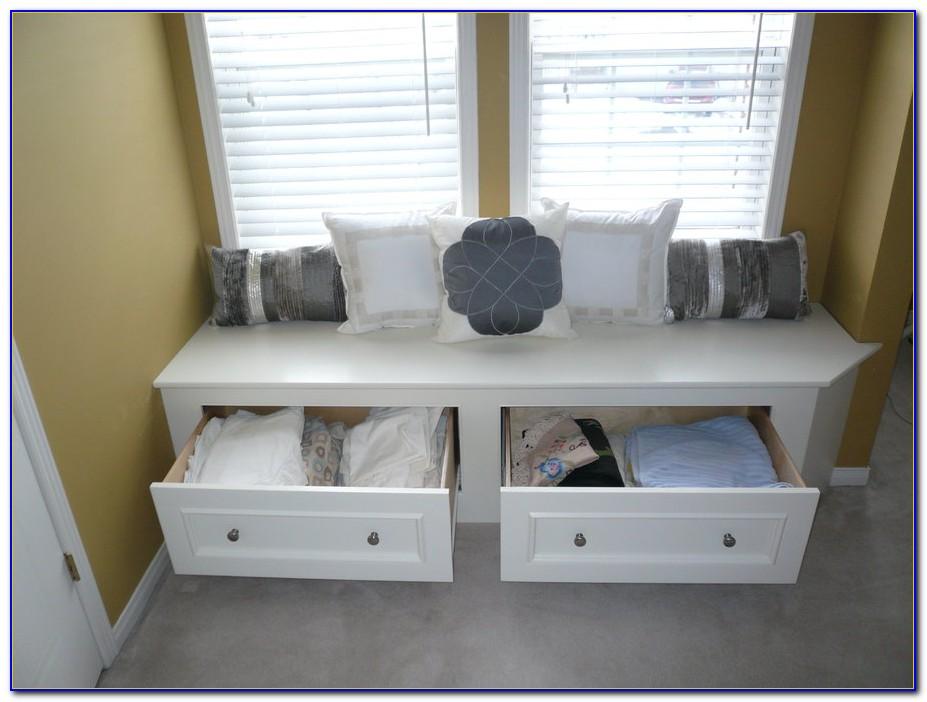 Window Bench With Storage Drawers