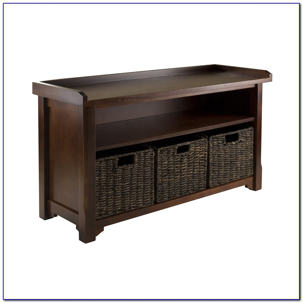 Winsome Granville 4 Piece Wood Storage Hall Bench Set