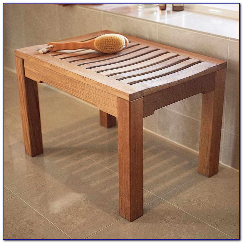 Wood Bench For Bathroom